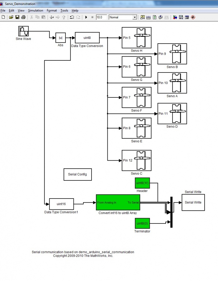 Servo Block Library for Simulink Arduino Target - Matt Bilsky